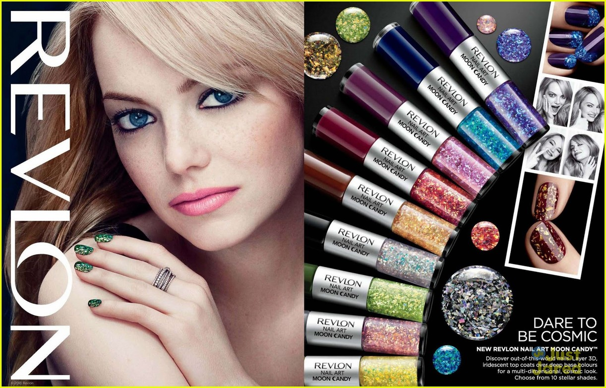 emma stone blonde revlon ads 01