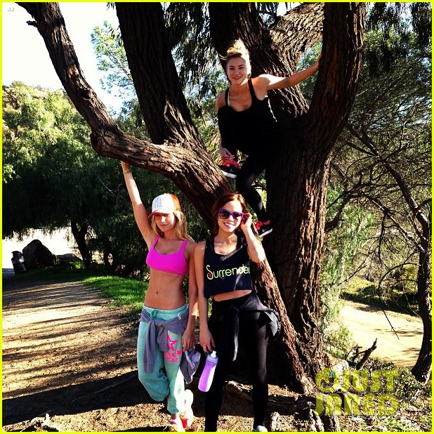 ashley tisdale allie gonino hiking buddies 06