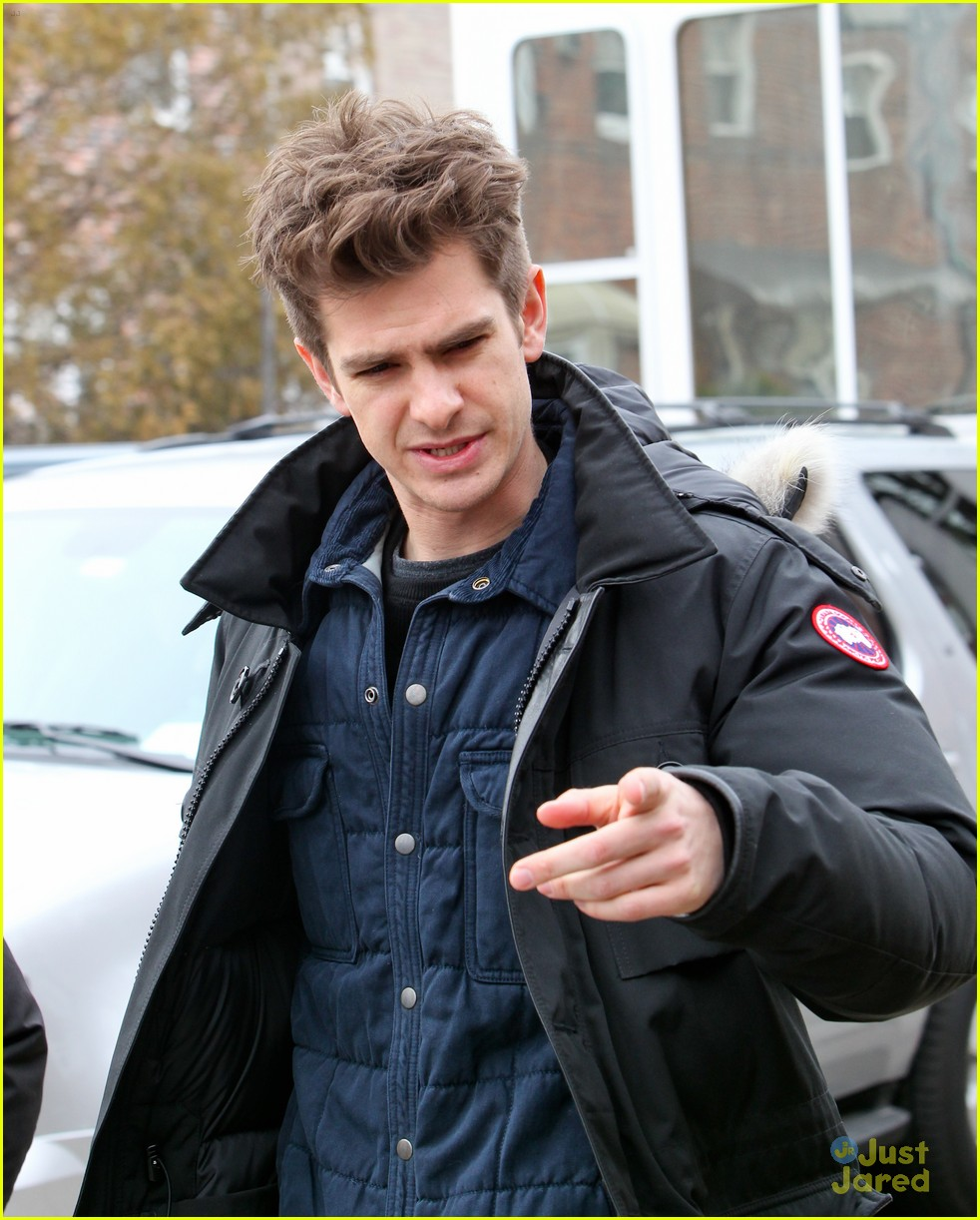 andrew garfield shailene woodley spiderman set 06