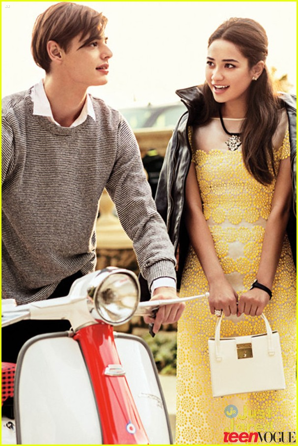 dress on the April 2013 cover of Teen Vogue. The 25-year-old actress
