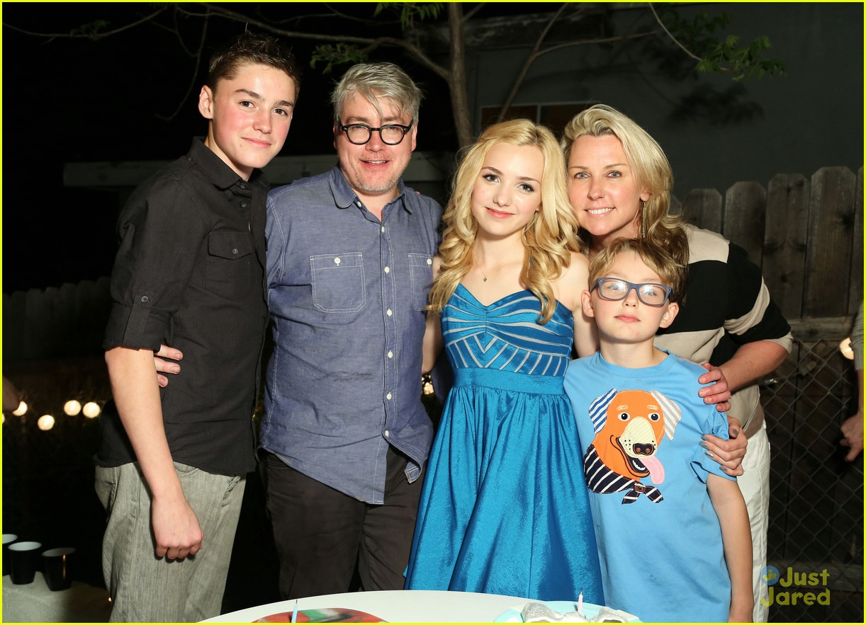 Spence with his twin sister and family on his 15th birthday