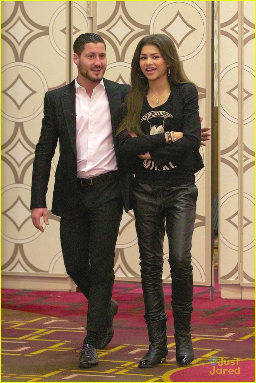 Zendaya & Val Chmerkovskiy Watch USA National Ballroom Competition