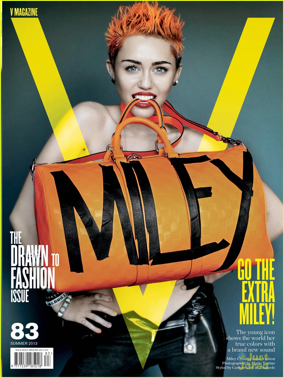 Miley Cyrus on the cover of V Magazine 2013
