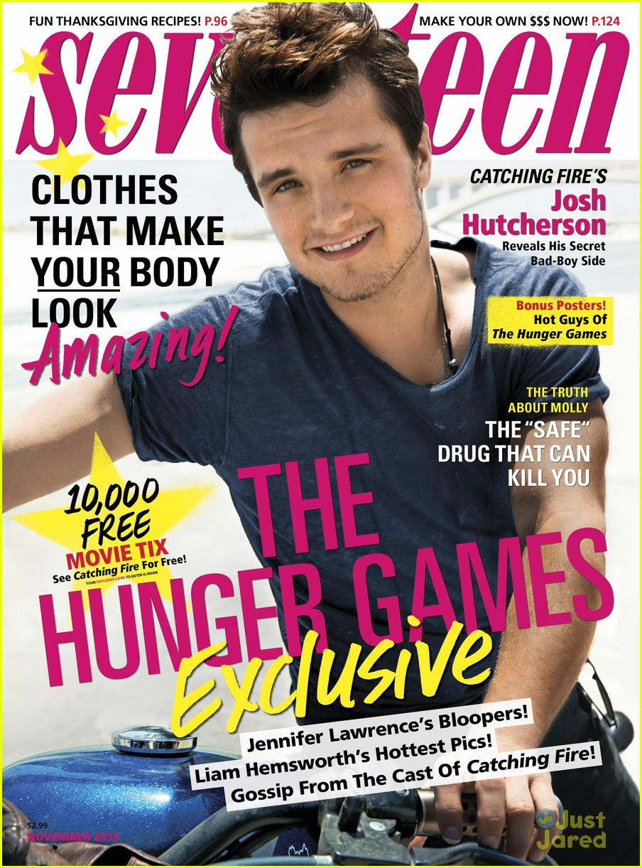 josh hutcherson covers seventee magazine 01