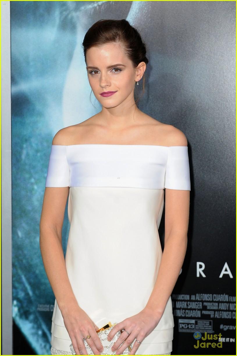 White dress emma watson - Emma Watson Gravity Premiere Pretty Photo 603825 Photo Gallery Just Jared Jr