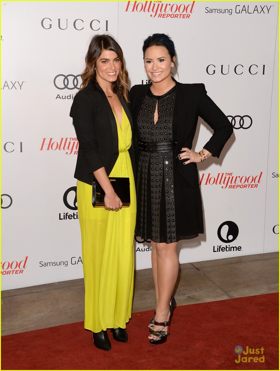 demi lovato nikki reed thr ent breakfast 02
