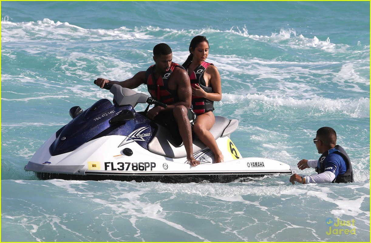 Michael B Jordan Shirtless Jet Skiing With Mystery Girl