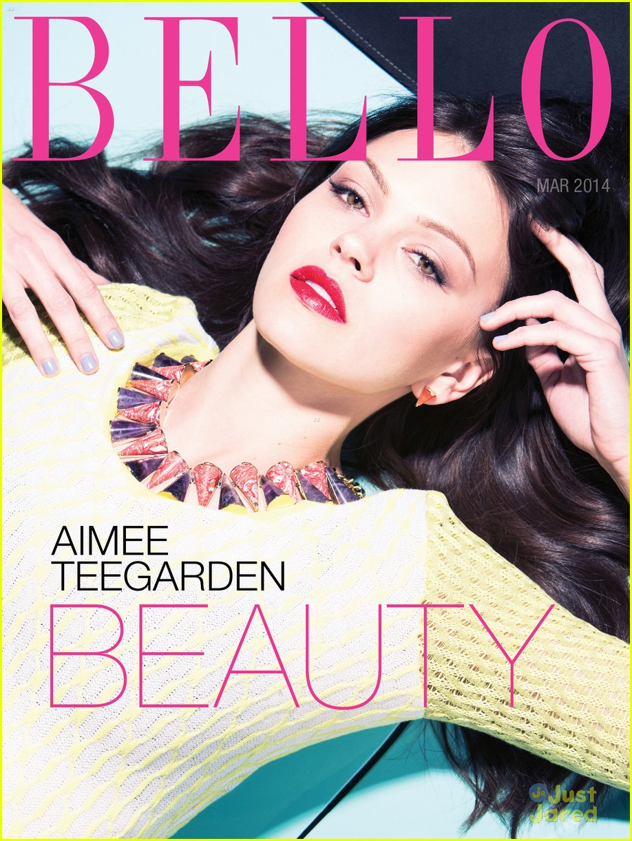 : Aimee Teegarden graces the Beauty cover for Bello mag's March 2014