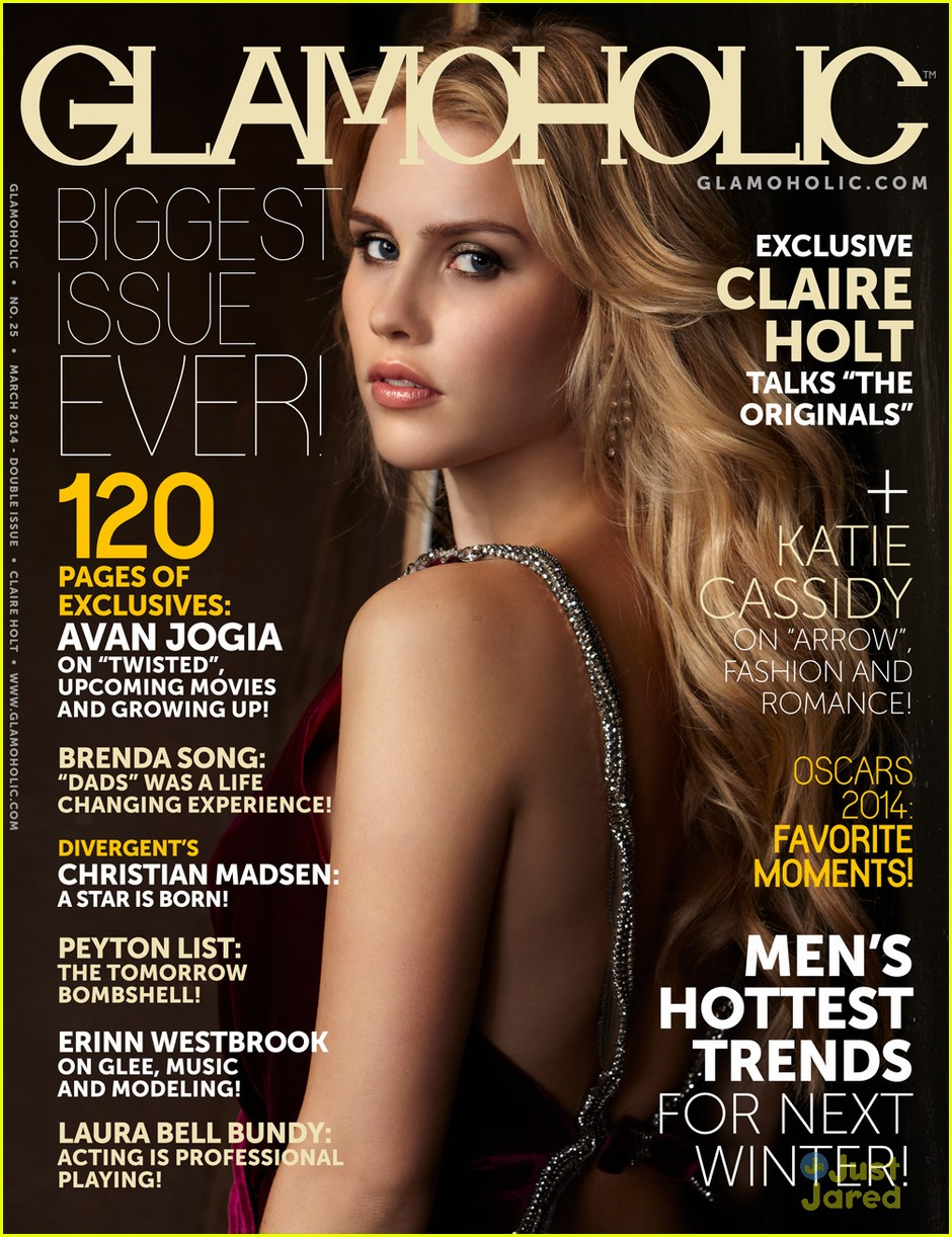 claire holt glamoholic cover march 04