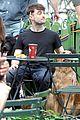 Dan-dog daniel radcliffe dog walker trainwreck nyc set 20