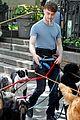 Dan-dog daniel radcliffe dog walker trainwreck nyc set 30