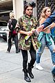 Sel-camo selena gomez covers up camo jacket 07