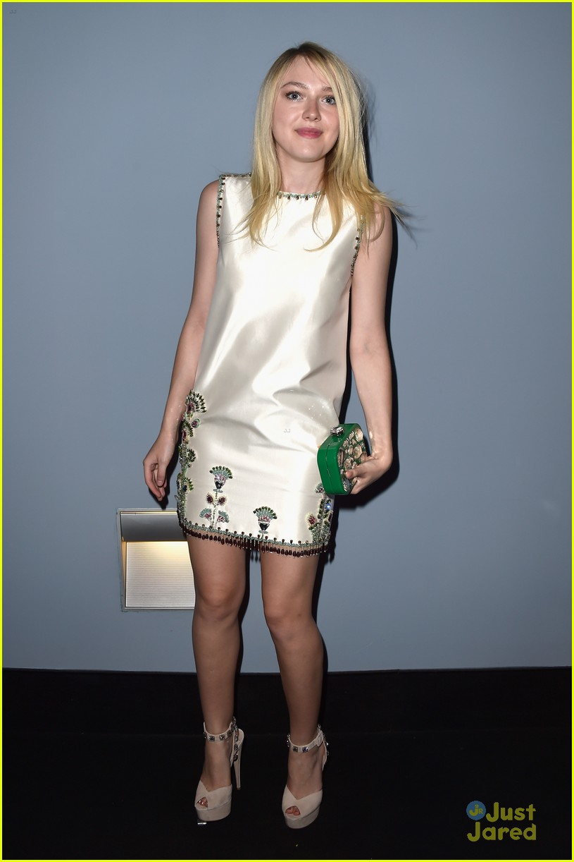 dakota fanning miu miu event bday plans 01