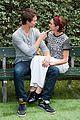Ansel-shai ansel elgort shailene woodley recreate bench poster tfios 04