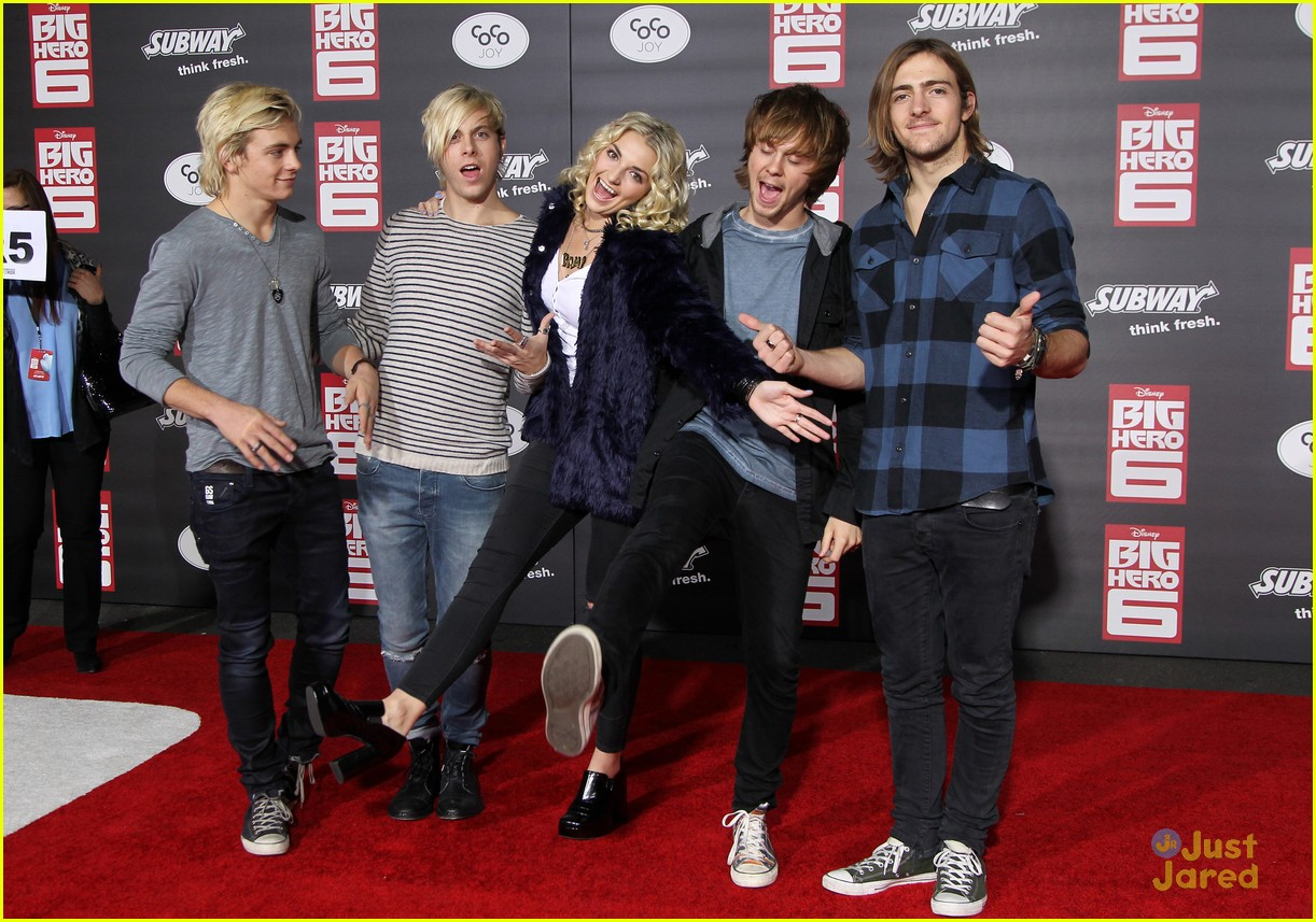 ross lynch new film big hero 6 premiere 01