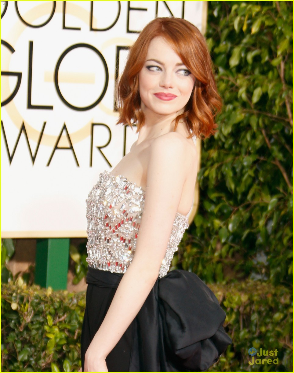 Emma Stone Brings Her Brother to Golden Globes 2015 ...  Emma Stone Golden Globes