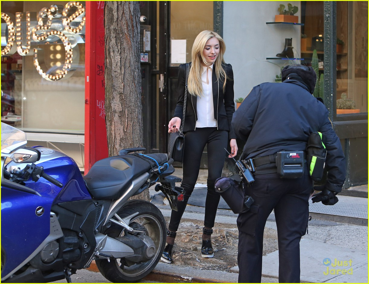 Peyton List Grabs Coffee & Cookies To Go in NYC   Photo ...