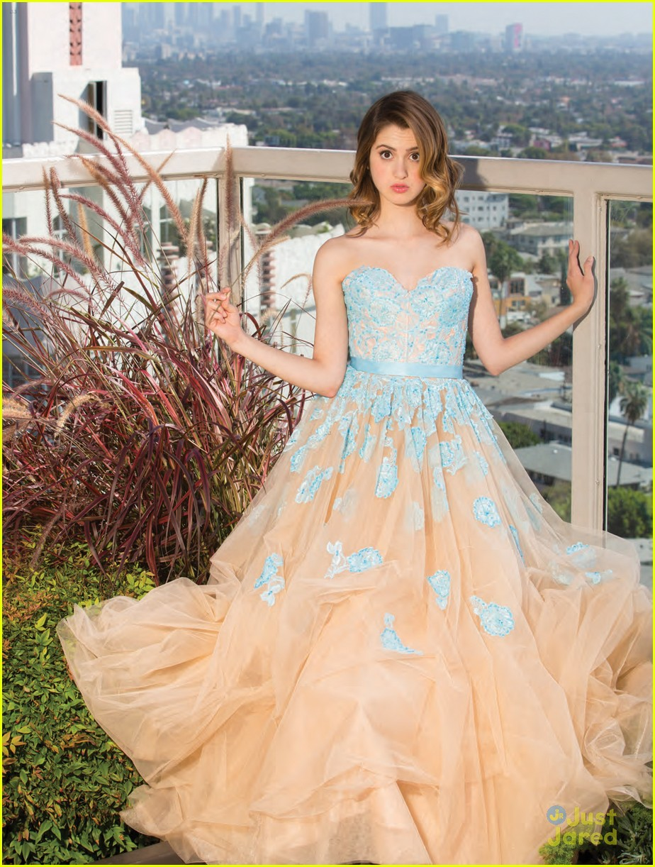 Laura marano models dream prom looks for 39 justine 39 see for Dream prom com wedding dresses