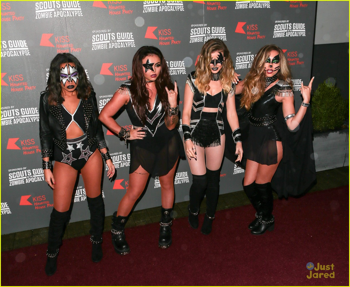 Little Mix Dress Up As Kiss For KISS FM's Haunted House Party ...