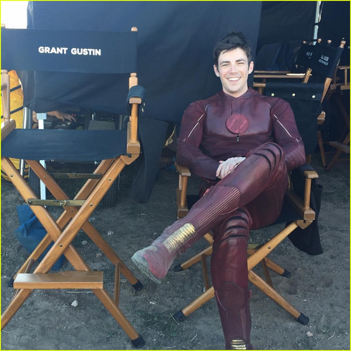 Grant Gustin Shares Photos From Set Of Flash