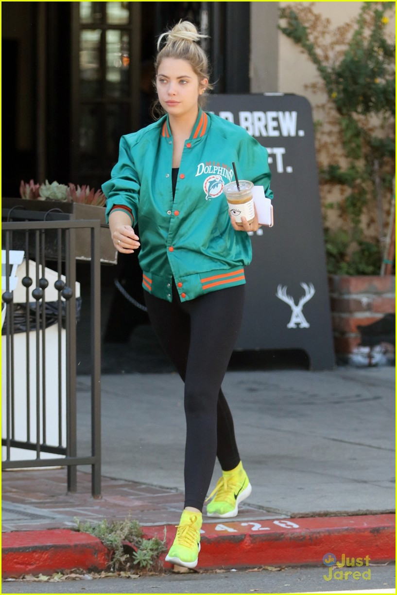 ashley benson shares pll msgs norman charlie dolphins jacket 06