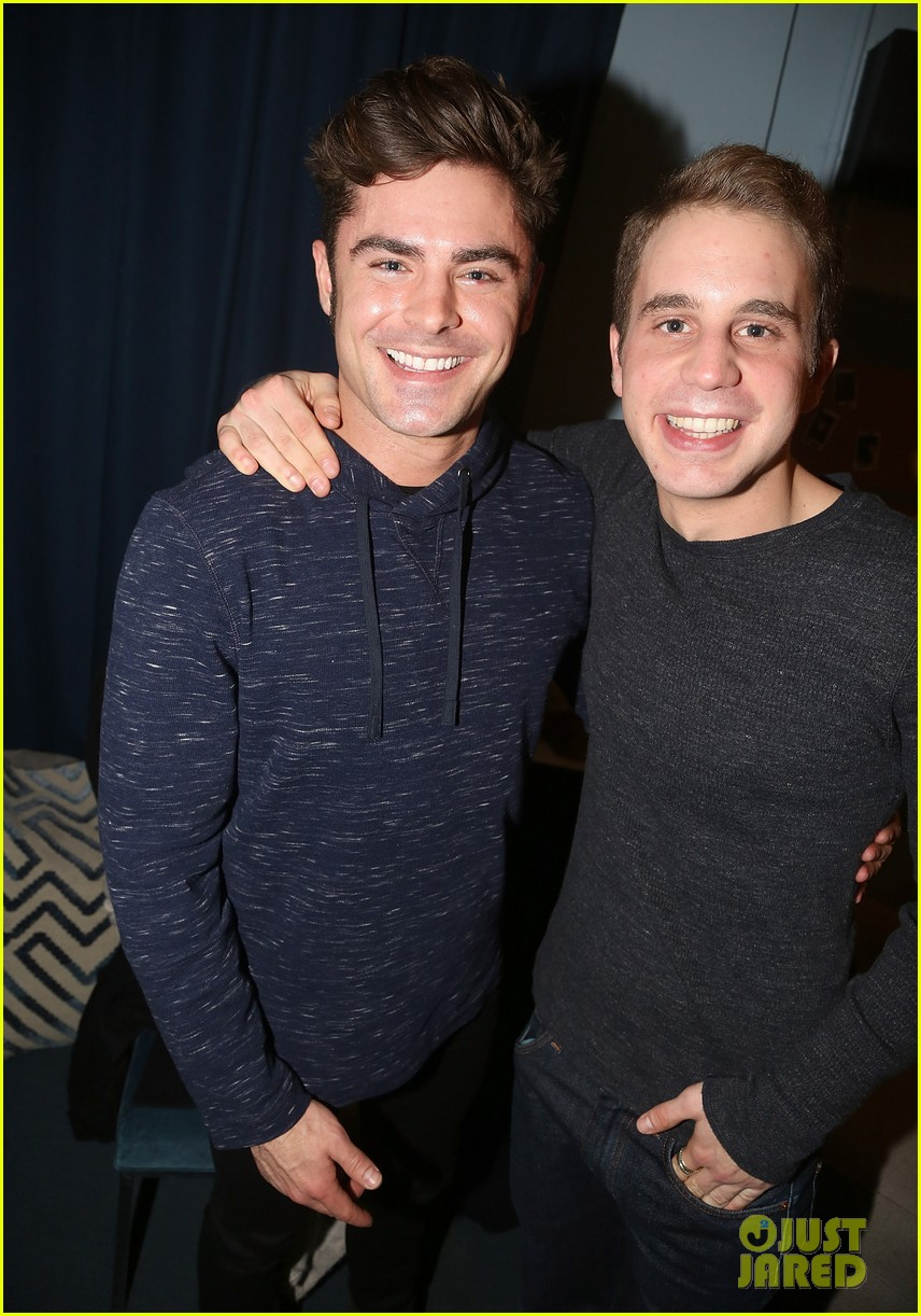 zac efron visits ben platt at his hit brodway musical dear evan hansen 02