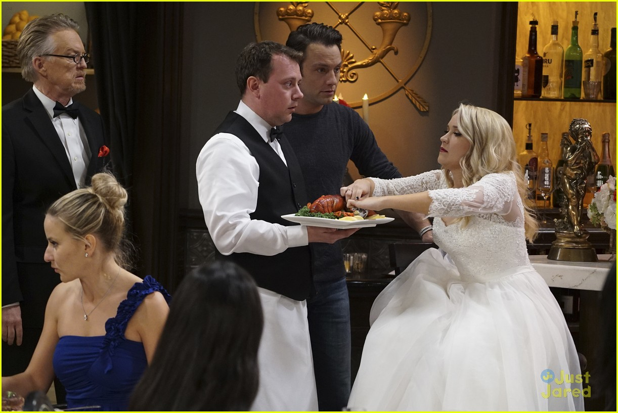 emily osment wedding dress episode betty white young hungry 22
