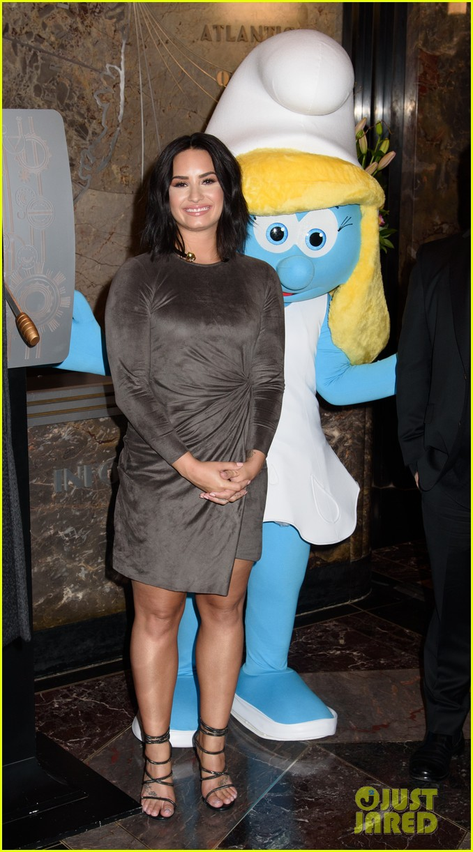 demi lovato smurfs press day 01