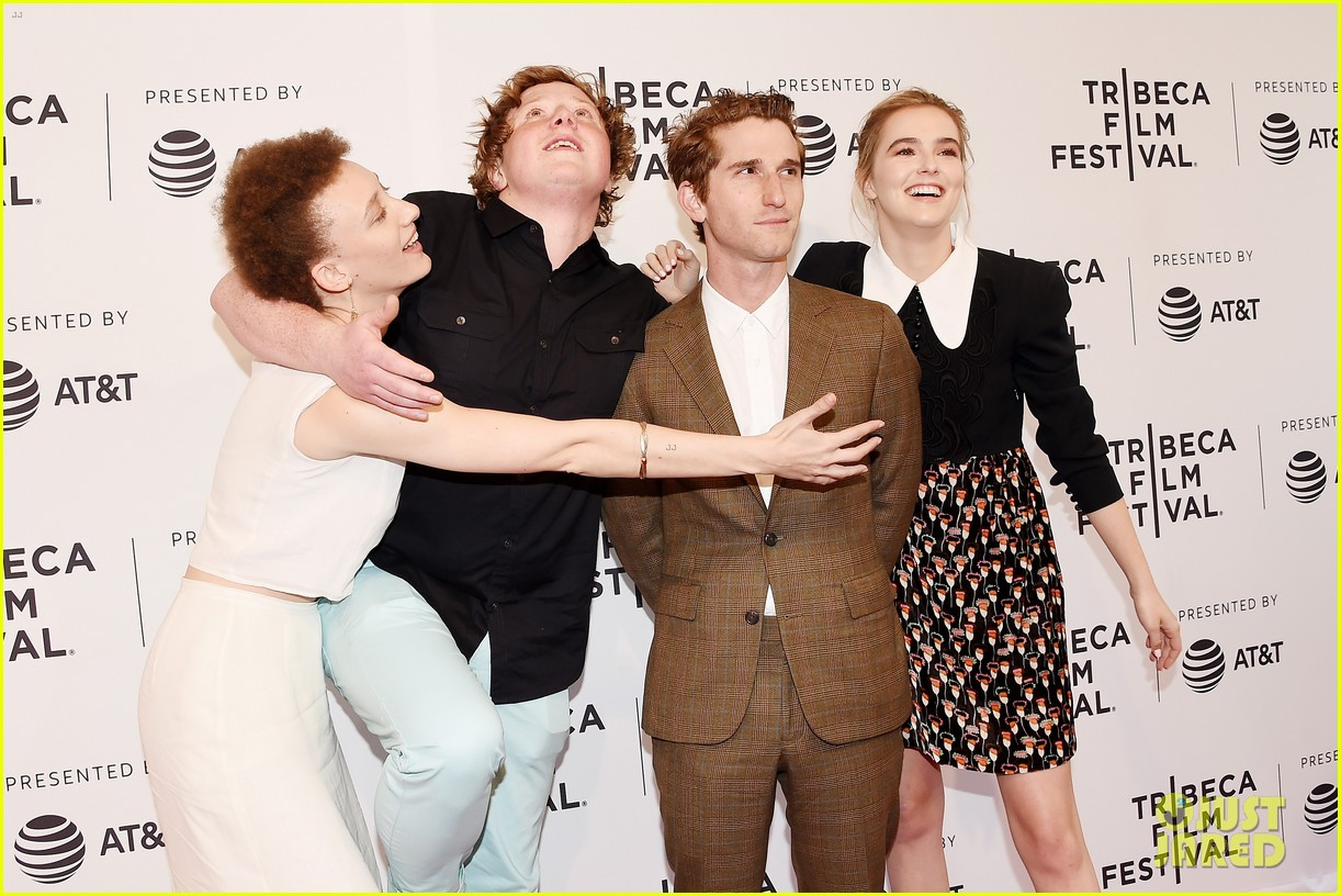 zoey deutch premieres new movie flower at tribeca film festival 03