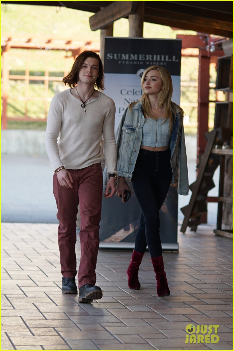 peyton list costar hang offset of their new ya thriller 05