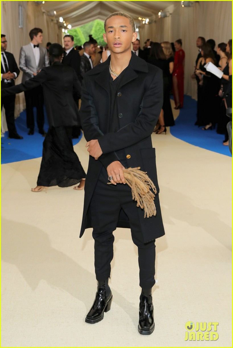Met Gala 2017: Jaden Smith Holds Dreadlocks in Hand on Red ...