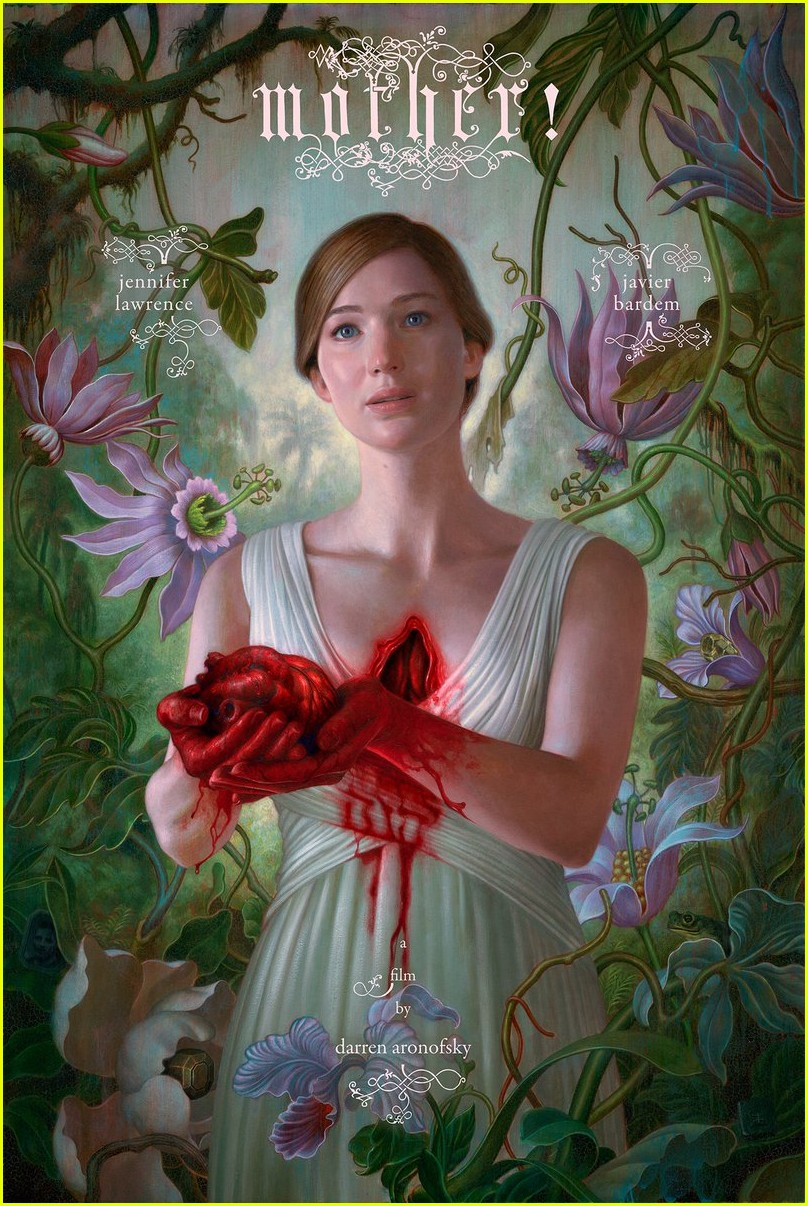 jennifer lawrence rips heart out on new mother poster 01
