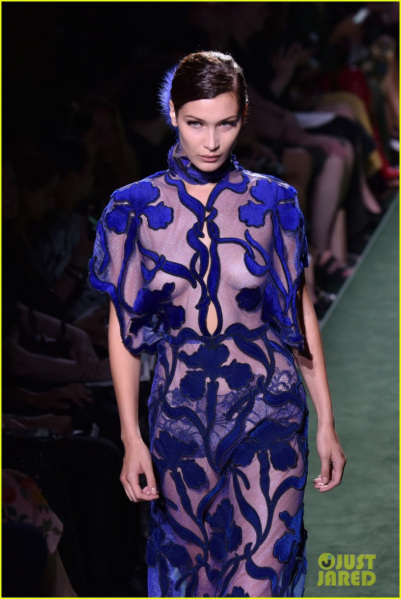 kendall bella rock sheer outfits on fendi runway 02