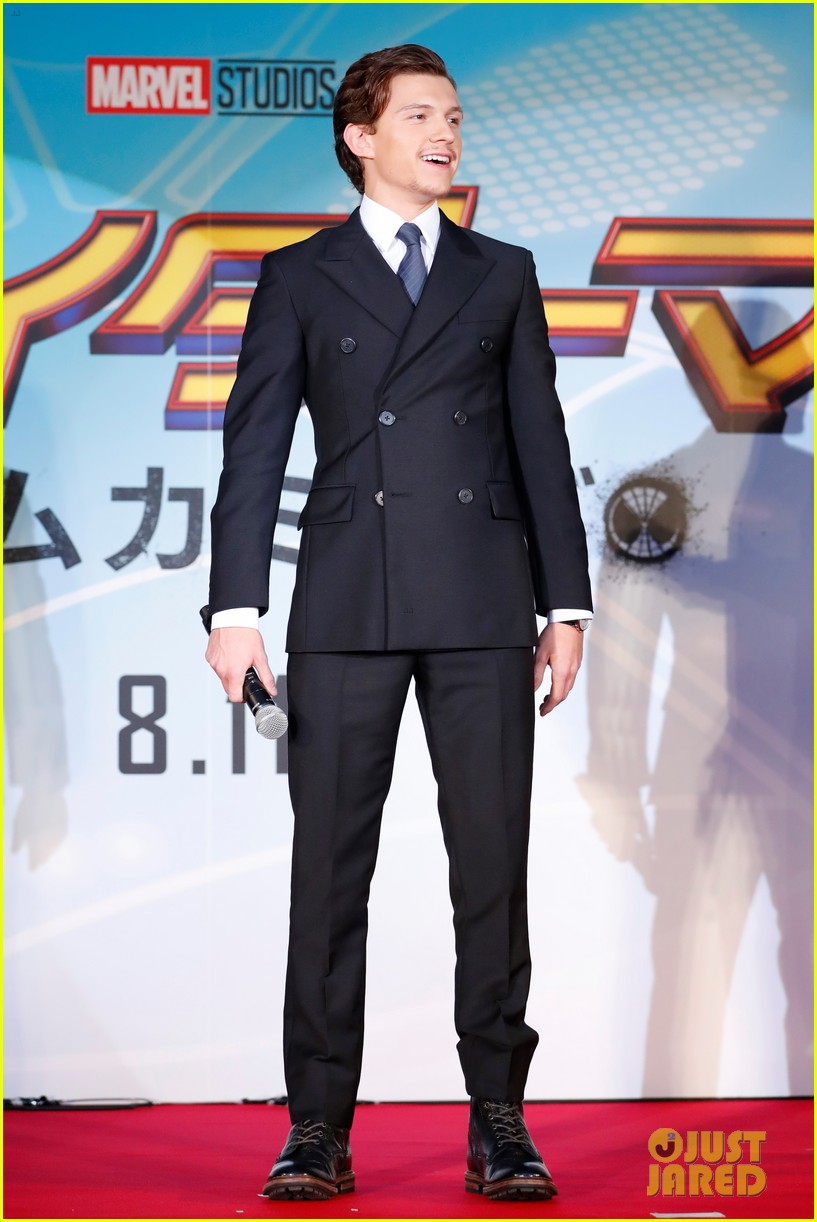 tom holland suits up for spider man homecoming tokyo premiere 03