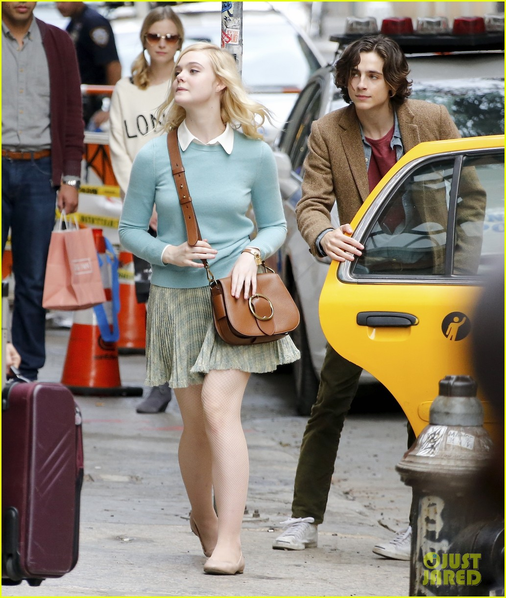 elle fanning timothee chalamet film woody allens upcoming film around nyc 07